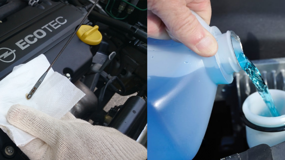 Windshield Wiper Fluid and Oil Check