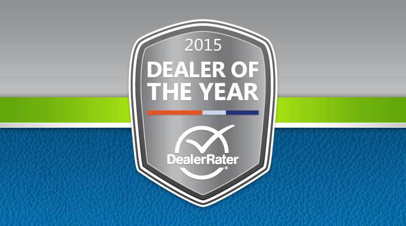 DealerRater 2015 Dealer of the Year