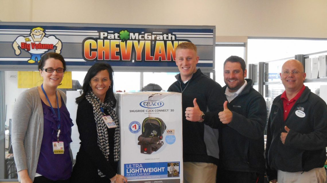 Mercy Donates Car Seat McGrath Auto