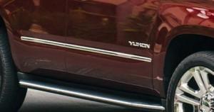 Yukon SLT Premium Edition Bright Chrome Bodyside Moldings
