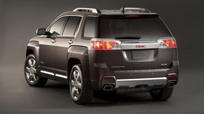Tail lamps on the GMC Terrain Denali