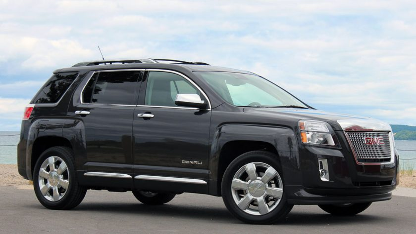 2013 GMC Terrain Denali on the road by water