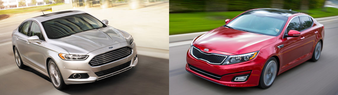 2014 Kia Optima and Ford Fusion
