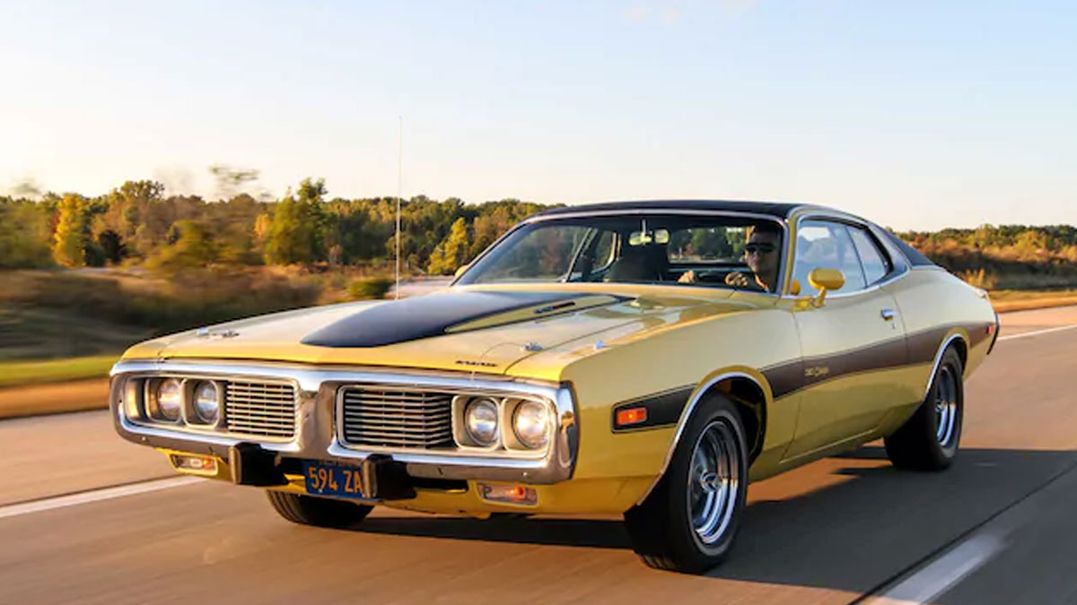 1974 Yellow Dodge Charger