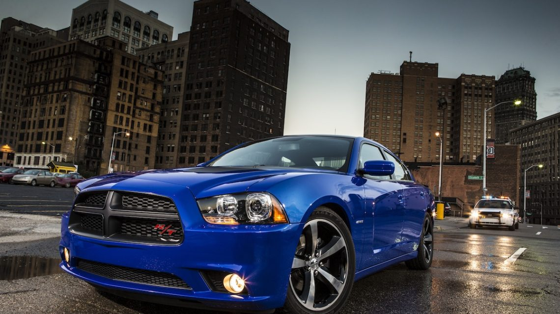 Dodge charger in the city