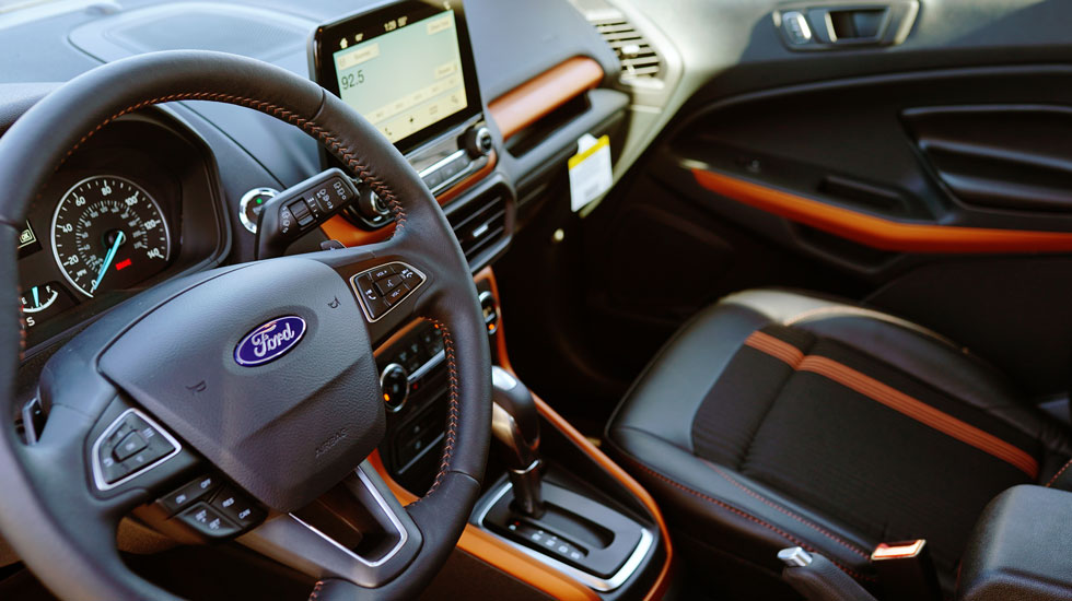 2019 Ford EcoSport Orange Interior Seating