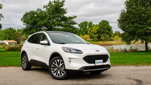 2020 White Ford Escape Titanium