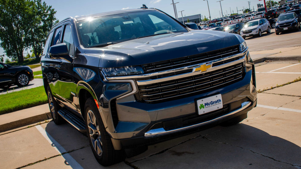Front view of the 2021 Chevy Tahoe LT