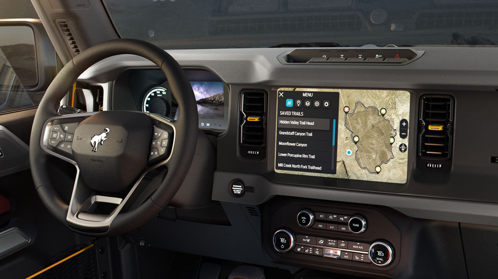Ford Bronco Infotainment center
