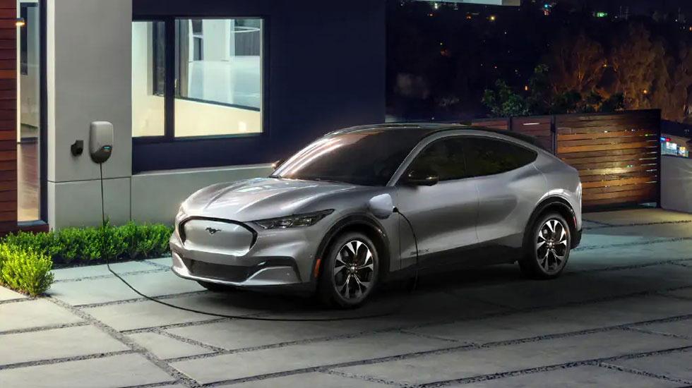 Electric charging in the Mustang Mach-E