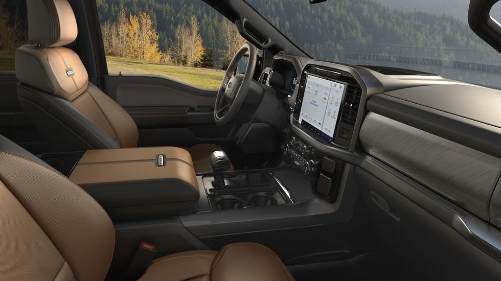 2021 Ford F-150 interior update