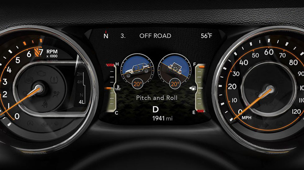 Jeep Wrangler digital cluster