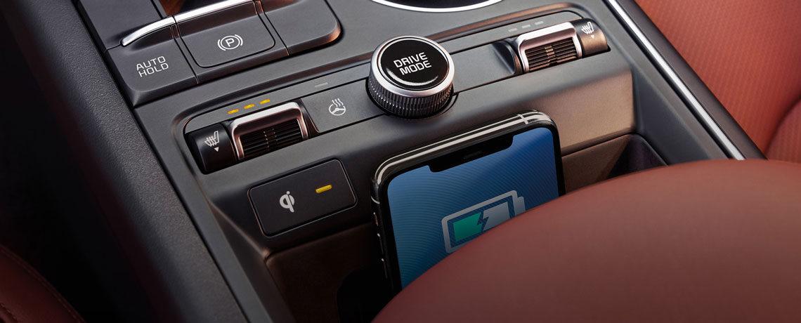 Kia wireless charging in K5