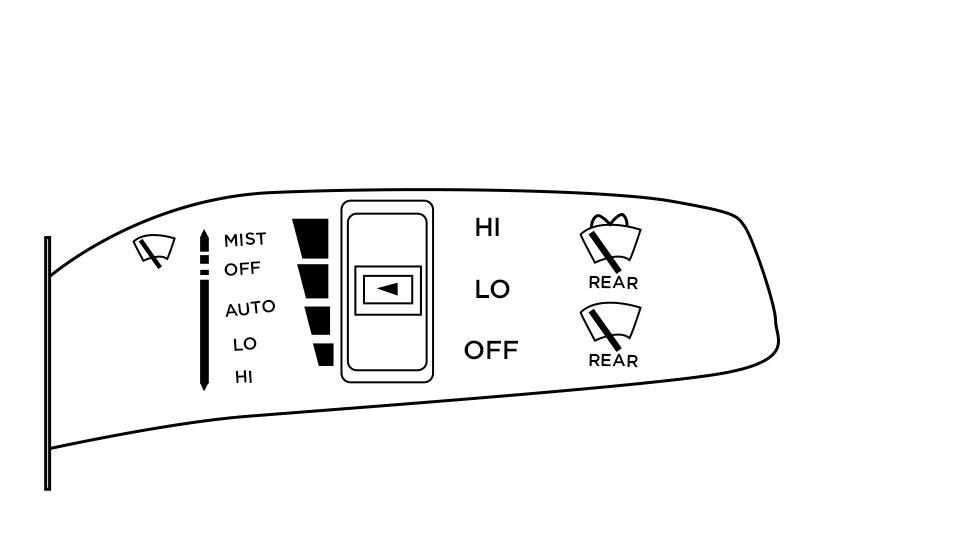 Kia wipers to auto mode diagram