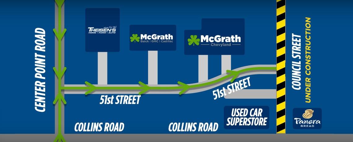 Council Street construction map