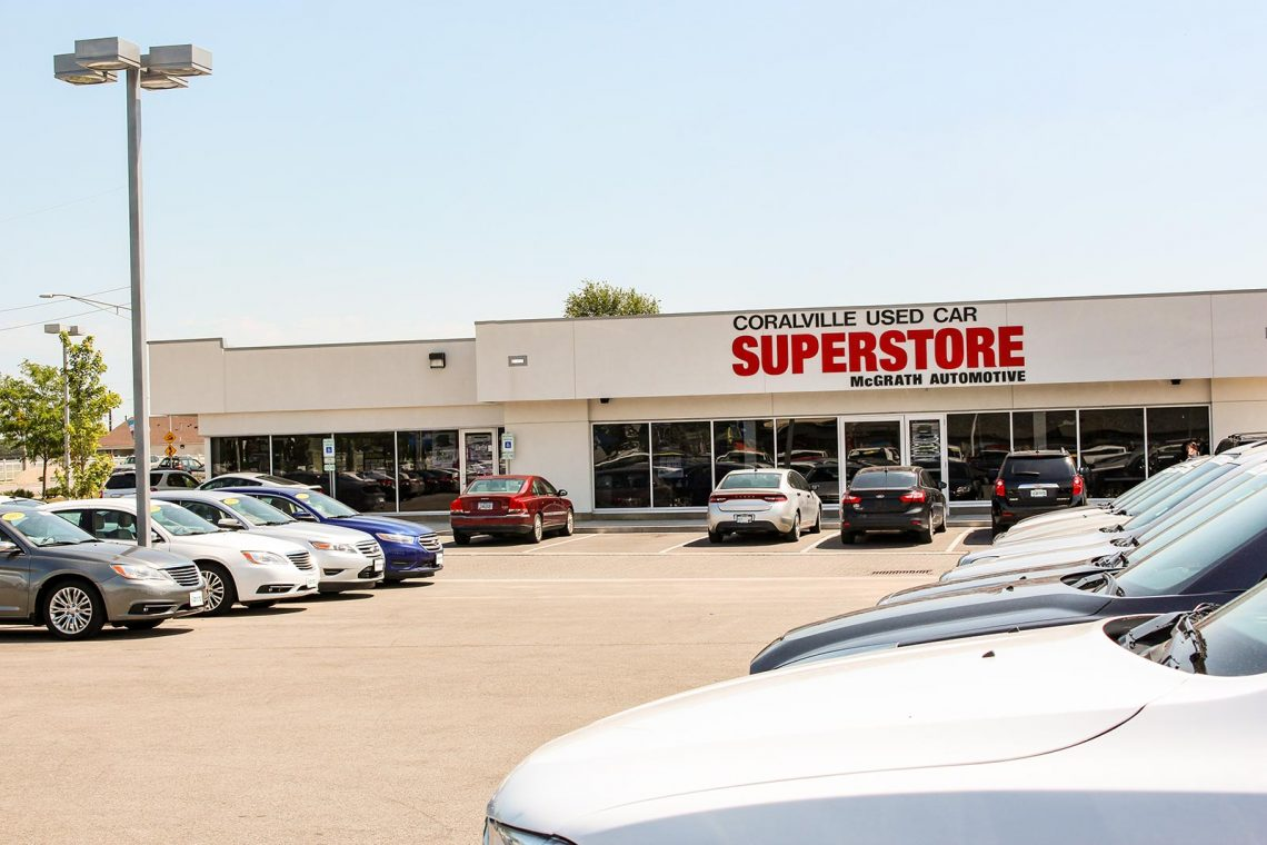 Coralville Used Car Superstore building facade